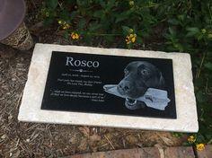 R.I.P. Rosco ~ StoneArtUSA custom made memorial stones & cremation urns for pets.