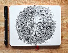 Detailed pen doodles by Kerby Rosanes