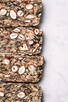 The Miracle Bread GF seed & nut bread Vegan Finger Foods, No Bread Diet, Seed Bread, Healthy Menu, Fresh Vegetables, Healthy Choices, Vegetarian Recipes, Seeds, Dessert Recipes