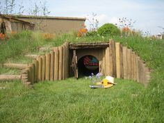 Hobbit hole - great use of under-space on a hilly garden