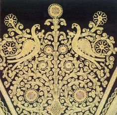 Bead Embroidery Patterns, Types Of Embroidery, Japanese Embroidery, Beaded Embroidery, Hand Embroidery, Embroidery Designs, Greek Traditional Dress, Traditional Outfits, Folk Costume