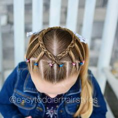 Little girl hairstyle - New Hair Cute Little Girl Hairstyles, Baby Girl Hairstyles, Princess Hairstyles, Cute Hairstyles, Braided Hairstyles, Toddler Hairstyles, Girl Hair Dos, Hair Due, Hair Hacks