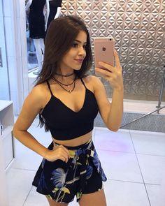 "4,537 Likes, 20 Comments - Simples Vaidade™ 552k (@simplesvaidade) on Instagram: ""Look do dia #simplesvaidade #sv ▫ #cinturaalta #cropped #lookdodia #lookoftheday #morena #cabelo…"""