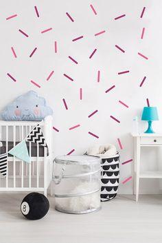 Polka Dot Círculos Wall Art Stickers Kid Decalque Arte Quarto Berçário Vinil V27