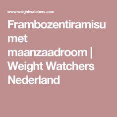 Frambozentiramisu met maanzaadroom | Weight Watchers Nederland