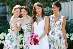 floral bridesmaid dresses by Donna Morgan