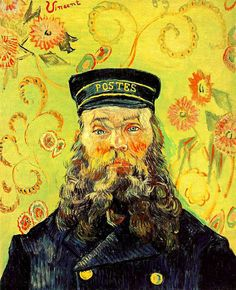 Vincent Van Gogh: Portrait of Joseph-Etienne Roulin. (Van Gogh painted 6 portraits of the Postman Joseph Roulin.) Oil on canvas. Arles: April, Merion Station, Pa: The Barnes Foundation. (Info from art Renoir, Vincent Van Gogh, Art Van, Desenhos Van Gogh, Van Gogh Arte, Van Gogh Pinturas, Van Gogh Portraits, Barnes Foundation, Van Gogh Paintings