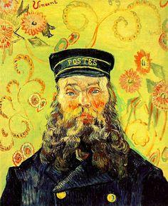 Van Gogh, Vincent (1853-1890) - 1889 Joseph-Etienne Roulin - love the background
