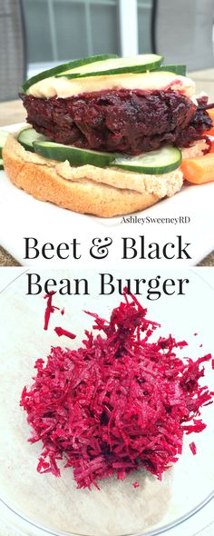 High protein black bean & beet veggie burgers! These veggie burgers are gluten free and dairy free! Beets!