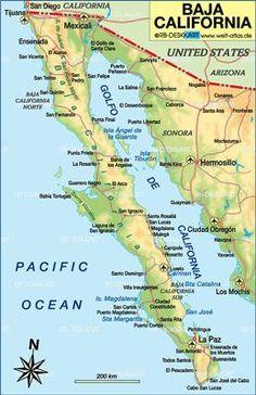 la paz baja mexico map maps of baja pinterest la paz