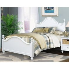 Chelsea Home Furniture 774000-50QN Amalie Queen Bed in White