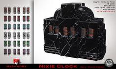 MESHWORX Nixie Clock Deco Back Marble at The MENs Depart