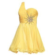 Amazon.com: VILAVI A-line One Shoulder Short Organza Rhinestone Graduation Dresses: Clothing