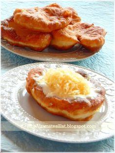 Kefires lángos - az egyszerű My Recipes, Bread Recipes, Cake Recipes, Cooking Recipes, Hungarian Cuisine, Hungarian Recipes, Kefir, European Dishes, Bread Rolls