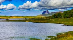 Loch Borralan - permits from Altnacealgach Inn, Ledmore (Tel: 01854 North Coast 500, West Coast Scotland, Brown Trout, Homeland, Nice View, Fly Fishing, Mountains, Travel, West Coast Of Scotland