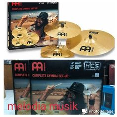 """Cymbal Meinl HCS set isi hihat 14"""" crash 16"""" dan ride 20"""" ready stock Meinl HCS 141620 Cymbal Set: The new MEINL HCS cymbal set-ups and individual cymbals are an entry level cymbal line that combine quality and value. They are made from MS63 alloy for a warm harmonic and balanced sound. They offer the best possible sounds at an affordable price. Style: Rock Pop Timbre: Mid-Bright Character: Warm Harmonical Pitch: Low-Mid Volume : Medium to Low Sustain : Medium to Short Weight : Medium Finish…"""