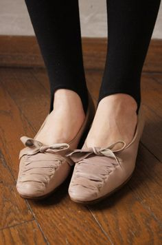 Love how these look like ballet slippers.