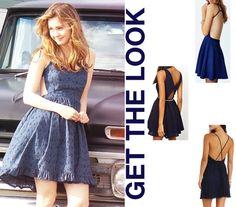 best of me movie amanda liana blue open back backless strap dress