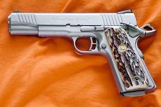 Colt 1991 pistol stag grips