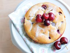Joghurt-Kirsch-Kuchen glutenfrei vegan mit Traubenzucker gesüsst