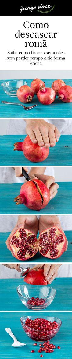 Difícil de descascar, veja a nossa técnica para tirar as sementes de forma eficaz e rápida.