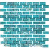 "Found it at Wayfair - Geo Brick 1-3/5"" x 4/5"" Glass Frosted Mosaic in Blue"