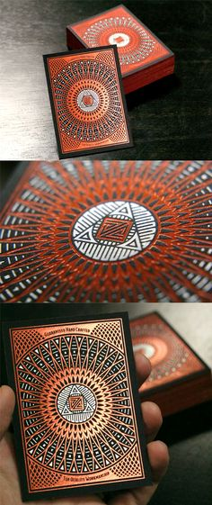 Intricate Hot Foil Stamped Business Card Design