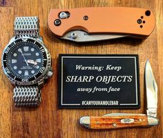 We know that you know this but we wanted to remind you one more time - keep sharp objects away from face. . . . . #Repost @essentialcarry  PSA: Keep sharp objects away from face. #canyouhandlebar #wrcase #citizenwatch #appliedweaponstech #awt #benchmade #warning #beard #sharp #knives #knife #edc #watches #beardedgentlemen #gents #beard #grooming #gentleman #knifecommunity #beards #orange #classy