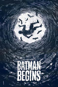 Batman Begins - by London based Illustrator & Graphic Artist Daniel Norris The Dark Knight Trilogy, Batman The Dark Knight, Dc Comics, Christopher Nolan, Gotham, I Am Batman, Kunst Poster, Batman Universe, Dc Universe