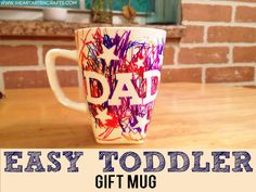 Easy Toddler Gift Mug Craft