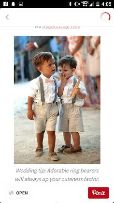 So cute! Maybe Carter and Zeke Older boys in kaki pants and white top