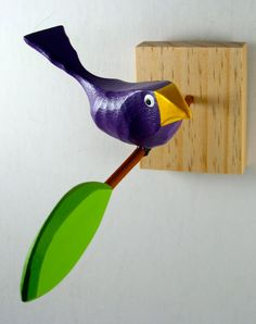 Bird in Branch by WoodDoodle on Etsy Gag Gifts Christmas, Wood Carvings, Woodturning, Bird Art, Sculpting, Whimsical, Paper Crafts, Birds, Wall Art