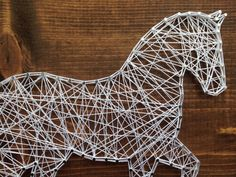 MADE TO ORDER Horse String Art by MadeByTheNeedle on Etsy