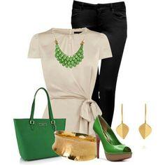 Verde y crema