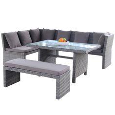 sofagruppe med høyt spisebord og benk fra Krogh Design. www.krogh-design.no