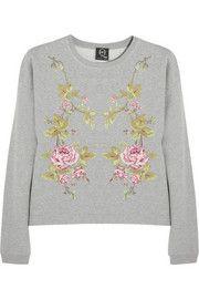 McQ Alexander McQueenEmbroidered cotton-jersey sweatshirt