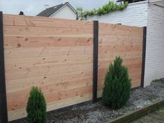Backyard Playground, Backyard Fences, Backyard Projects, Diy Privacy Fence, Privacy Fence Designs, Outdoor Retreat, Outdoor Decor, Front Yard Patio, Garden Shed Diy