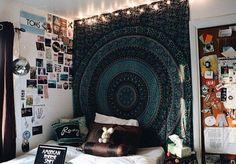 Комната, стиль бохо, йога, фотоколлаж, спальня, кровать