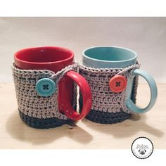 Handmade crochet covered mug cozy от ZoZooCrochet на Etsy