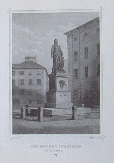 Das Mozart Standbild in Salzburg - Kunstblatt Reproduktion Druck Salzburg, Ebay, Painting, Art, Frozen Images, Shopping, Craft Art, Paintings, Kunst