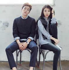 iumushimushi:  IU & Lee Hyun Woo for Unionbay Fall Collectioncr: Unionbay