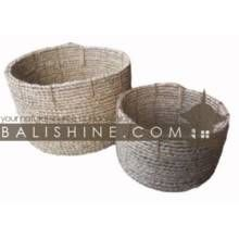 Balishine: Your natural source of indonesian handicraft presents in its Home Decor collection the Basket Set Of 2:12JAS362850:This set of 2 ...