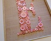 Button letter wall art.  For the nursery