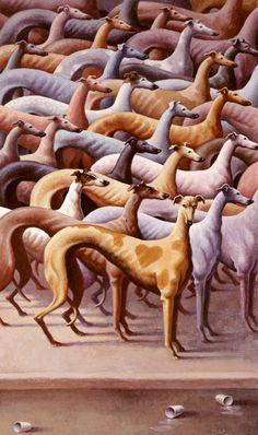 Acrylic & Charcoal Illustrations by Childrens Book Illustrator Loren Long Greyhound Art, Italian Greyhound, Dog Day Afternoon, Lurcher, Grey Hound Dog, Pet Memorials, Dog Art, Dog Love, Best Dogs
