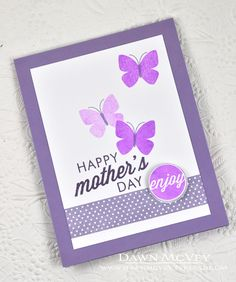 Happy Mother's Day Card by Dawn McVey for Papertrey Ink (May 2014)