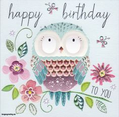 Happy birthday images with Owls Disney Happy Birthday Images, Happy Birthday Clip Art, Flower Birthday Cards, Happy Birthday Beautiful, Vintage Birthday Cards, Happy Birthday Pictures, Happy 2nd Birthday, Happy Birthday Wishes Sister, Happy Birthday Messages