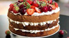 O tomto dortu se traduje, že patřil mezi oblíbené dobroty královny Viktorie. Fancy Cakes, Pavlova, Cake Designs, Tiramisu, Cheesecake, Good Food, Food And Drink, Fresh, Cookies