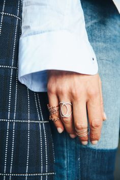 Finger Love via @TheyAllHateUs . Love Your Rings && Accessorize. xx Dressed to Death xx #accessories #jewelry #StreetStyle