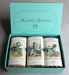 Maison Bouche chocolates... only the French can make a bar of chocolate look exquisite
