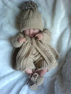 Knitting Pattern 40 Boys Cardigan Set 0 3M Baby Reborn Doll 18 20 Inches